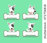 cartoon character bull terrier... | Shutterstock .eps vector #471756818