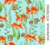 watercolor seamless pattern... | Shutterstock . vector #471760562