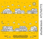 neighborhood with homes... | Shutterstock .eps vector #471763772