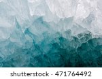 a close up of a small ice cave... | Shutterstock . vector #471764492