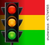 traffic light on red  yellow... | Shutterstock .eps vector #471769505