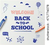 back to school poster ... | Shutterstock .eps vector #471776078