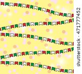 vector bunting flags. colorful... | Shutterstock .eps vector #471777452