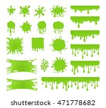 slime vector set. collection of ... | Shutterstock .eps vector #471778682