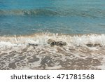view of sand beach in halkidiki.... | Shutterstock . vector #471781568