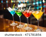 multicolored cocktails at the... | Shutterstock . vector #471781856