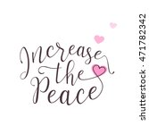 vector illustration of peace... | Shutterstock .eps vector #471782342