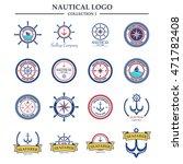 nautical logo design template   Shutterstock .eps vector #471782408