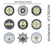 nautical logo design template   Shutterstock .eps vector #471782546