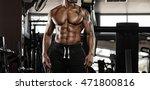portrait of a handsome muscular ... | Shutterstock . vector #471800816