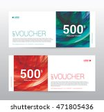 template gift voucher coupon... | Shutterstock .eps vector #471805436