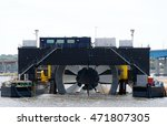 Giant Tidal Turbine Docked In A ...
