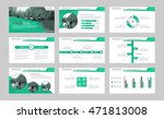 set of green elements abstract... | Shutterstock .eps vector #471813008