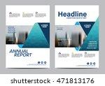blue brochure layout design... | Shutterstock .eps vector #471813176