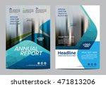 blue brochure layout design... | Shutterstock .eps vector #471813206