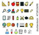set of back to school doodle...   Shutterstock .eps vector #471813698