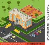 flat isometric school building  ... | Shutterstock .eps vector #471814442