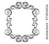 vintage border frame engraving...   Shutterstock .eps vector #471816416