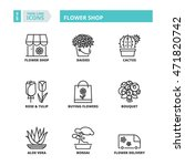 flat symbols about flower shop. ... | Shutterstock .eps vector #471820742