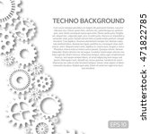 techno background with white... | Shutterstock .eps vector #471822785
