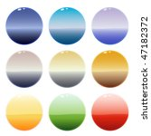 collection of nine glossy wave... | Shutterstock .eps vector #47182372
