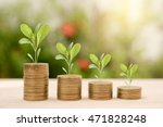 growing tree on stack gold coin ... | Shutterstock . vector #471828248