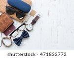flat lay  top view  men's... | Shutterstock . vector #471832772