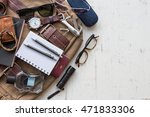 flat lay  top view  men's... | Shutterstock . vector #471833306