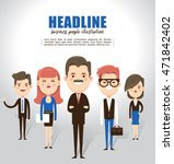 businessman boss with group of... | Shutterstock .eps vector #471842402
