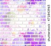 brick wall  graffiti seamless... | Shutterstock .eps vector #471843965