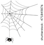 spider and web | Shutterstock . vector #471845876