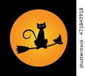 halloween cat | Shutterstock . vector #471845918