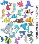 cartoon marine life isolated on ... | Shutterstock .eps vector #47184934