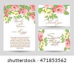 romantic invitation. wedding ... | Shutterstock .eps vector #471853562