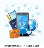 online ticket airline with... | Shutterstock .eps vector #471866105