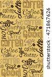 coffee seamless pattern   hand...   Shutterstock .eps vector #471867626