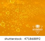 beer bubbles background with... | Shutterstock .eps vector #471868892