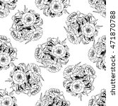 seamless pattern with flowers... | Shutterstock .eps vector #471870788