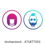 avatars icons in circles  girl... | Shutterstock .eps vector #471877352