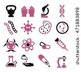 biohazard  toxic icon set | Shutterstock .eps vector #471883898