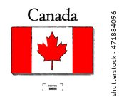 hand drawn canada flag  flags... | Shutterstock .eps vector #471884096