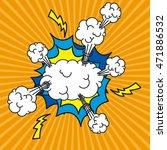 explosion pop art style vector... | Shutterstock .eps vector #471886532
