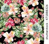 seamless watercolor pattern...   Shutterstock . vector #471888326