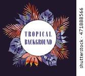 summer tropical hawaiian...   Shutterstock .eps vector #471888566