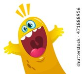 cartoon yellow blob monster.... | Shutterstock .eps vector #471888956
