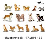 set of dogs separate images.... | Shutterstock . vector #471895436