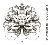 vector ornamental lotus  ethnic ... | Shutterstock .eps vector #471896846