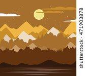 beautiful nature scene... | Shutterstock .eps vector #471903878