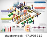 illustration of info graphic... | Shutterstock .eps vector #471905312