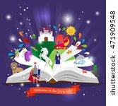 fairy tale book. open book with ... | Shutterstock .eps vector #471909548